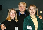 BBC Radio Appeal - From left to right: ????, Martin Jarvis and Carole Stainton - cancer Laryngectomee Trust trustee