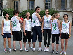 10 K race CLT team new vests